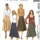 McCall's Sewing Pattern 4161 Misses Size 4-10 Flared Seamed Scallop Hem Skirts