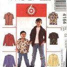 McCall's Sewing Pattern 4164 6226 Boys Size 3-4-5-6  Easy Button Front Long Short Sleeve Shirt