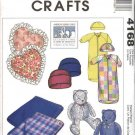 McCall's Sewing Pattern 4168 Infant Baby Size 5-18# Bunting Hats Blanket Heart Pillow Teddy Bear