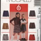 McCall's Sewing Pattern 4174 Girls' Size 7-12 Easy Mock Wrap Front Pull On Skorts