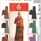 McCall's Sewing Pattern 4176 Misses Size 8-14 Easy Sleeveless Flared Dresses Button Front Jacket