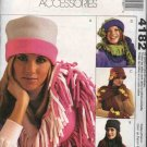 McCall's Sewing Pattern 4182 Misses Sizes Fringed  Fleece Hats Scarves Gloves Mittens