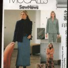 McCall's Sewing Pattern 4196 M4196 Misses Size 18-24 SewNews Unlined Jacket Pants Skirts