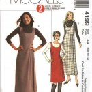 McCall's Sewing Pattern 4199 Misses Size 10-16 Two Hour Raised Waist Short Long Jumper