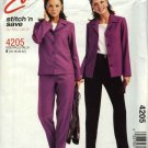 McCall's Sewing Pattern 4205 Misses Size 16-22 Easy Button Front Jacket Knit Top Longs Pants