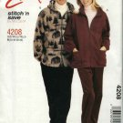 "McCall's Sewing Pattern 4208 Misses Mens Unisex Chest Size 34-40"" Easy Zipper Front Jacket Pants"