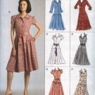 Vogue Sewing Pattern 8352 Misses Size 14-20 Easy Options Button Front Dropped Waist Dresses