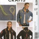 McCall's Sewing Pattern 5679 Misses Size 8-22 Embellished Blue Jean Denim Jacket