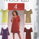 Mcall's Sewing Pattern 5750 Misses Size 16-22 Easy Loose-fitting Pullover Raglan Sleeve Knit Dress