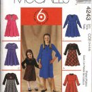 McCall's Sewing Pattern 4243 Girls Size 3-6 Easy Raised Waist Flared Skirt Short Long Sleeves Dress