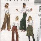 McCall's Sewing Pattern 4259 Misses Size 10-16 Pleated Long Pants Trousers Slacks Culottes Gauchos
