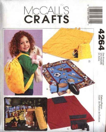McCall�s Sewing Pattern 4264 Easy Fleece Blankets Backpack Carryall