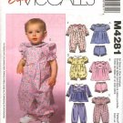 McCall's Sewing Pattern 4281 Baby Infant Size 13-24# Easy Dress Panties Top Pants Romper Jumpsuit