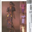 McCall&#39;s Sewing Pattern 4294 Misses Size 10-16 Ethnic Style Button Front Dress Top Skirts Headwrap