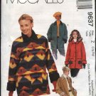 McCall's Sewing Pattern 9637 Misses Size 16-22 Lined Button Front Long Sleeve Jacket