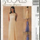 McCall's Sewing Pattern 9683 Misses Size 16-20 Evening Prom Formal Gown Dress Raised Waist