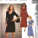 McCall's Sewing Pattern 4297 Misses Size 6-12 Easy Long Short Sleeve Knit Dresses