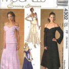 McCall's Sewing Pattern 4302 Misses  Size 16-22 Formal Evening Long Flared Skirt Off Shoulder Top