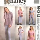 McCall's Sewing Pattern 4312 Misses 8-22 Knit Wardrobe Pullover Tops Skirt Low Rise Pants Shorts