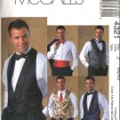 "McCall's Sewing Pattern 4321 Mens Size 34-44"" Formal Lined Tuxedo Vest Bow Tie Cummerbund"