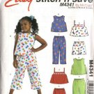 McCall&#39;s Sewing Pattern 4341 Girls Size 3-6 Easy Summer Suntops Tops Shorts Cropped Pants