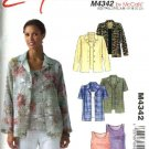 McCall's Sewing Pattern 4342 Misses Size 8-14 Easy Button Front Shirts Top Shell Twin Set