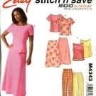 McCall's Sewing Pattern 4343 Misses Size 8-14 Easy Fitted Tops Pants Bias Long Skirt