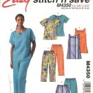 McCall's Sewing Pattern 4350 Misses Size 14-20 Easy Pullover Top Tunic Shorts Cropped Capri Pants