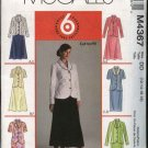 McCall's Sewing Pattern 4367 Misses Size 12-18 Easy Button Front Jacket Top Straight Flared Skirt