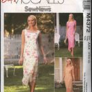 McCall's Sewing Pattern 4372 Misses Size 14-20 Easy Sew News Layered Sleeveless Short Sleeve Dress