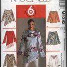 McCall's Sewing Pattern 4382 Misses Size 4-14 Easy Pullover Long Sleeve Tops Tunics