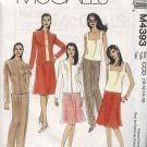 McCall's Sewing Pattern 4393 M4393 Misses Size 14-20 Wardrobe Zipper Front Jacket Top Skirt Pants