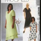 McCall&#39;s Sewing Pattern 4397 Womans Plus Size 18W-24W Lined Layered Short Sleeve A-Line Dress