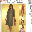 McCall's Sewing Pattern 4472 Misses Size 6-12 Easy Maternity Wardrobe Wrap Front Top Dress Pants