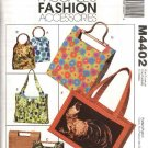 McCall's Sewing Pattern 4402 Lined Fashion Handbags Totes Purses