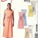 McCall's Sewing Pattern 4419 Misses Size 6-12 Easy Pullover Sleeveless Long Short Summer Dress