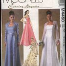 McCall's Sewing Pattern 4450 Misses Size 4-10 Strapless Formal Wedding Prom Gown Dress Shrug