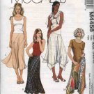 McCall's Sewing Pattern 4458 Misses Size 8-14 Color Blocked Seam Details Asymmetrical Hem Skirts