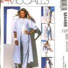 McCall's Sewing Pattern 4468 Misses Size 10-16 Easy Wardrobe Duster Shirt Top Skirt Cropped Pants