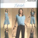 Butterick Sewing Pattern 5050 Misses Size 8-14 Easy Knit Wardrobe Vest Top Skirt Pants