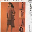 McCall's Sewing Pattern 4523 Misses Size 6-12 Easy Wardrobe Unlined jacket Top Dress Cropped Pants
