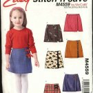 McCall's Sewing Pattern 4559 Girls Size 3-6 Easy Skorts