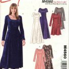 McCall's Sewing Pattern 4560 Misses Size 8-14 Easy Long Short Sleeve Princess Seam Dresses