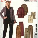 McCall's Sewing Pattern 4565 Misses Size 12-18 Easy Wardrobe Unlined Jacket Vest Pants Skirt