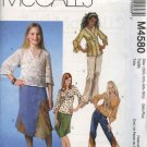 McCall's Sewing Pattern 4580 Girls Size 12-16 Pullover Tops Tunics Skirts Pants