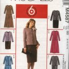 McCall's Sewing Pattern 4587 Miss Size 8-14 Easy Unlined Button Front Jacket Straight Flared Skirt