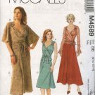 McCall's Sewing Pattern 4589 Misses 4-10 Two-Piece Dress Front Wrap Tops Bias Flared Skirt
