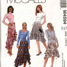 McCall's Sewing Pattern 4594 Misses Size 4-10 Short Long Tiered Layered Flared Skirts