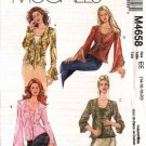 McCall&#39;s Sewing Pattern 4658 Misses Size 6-12 Front Tie Jacket Tops Bias Tank Shell Twinset