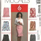 McCall's Sewing Pattern 4662 Misses Size 12-18 Easy Lined  Straight Tiered Ruffled Skirts